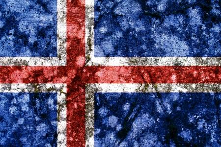 the icelandic flag: iceland grunge flag Stock Photo