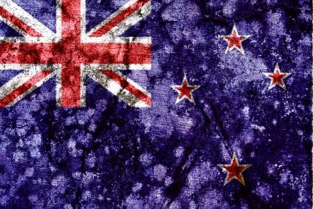 commonwealth: new zealand grunge flag Stock Photo