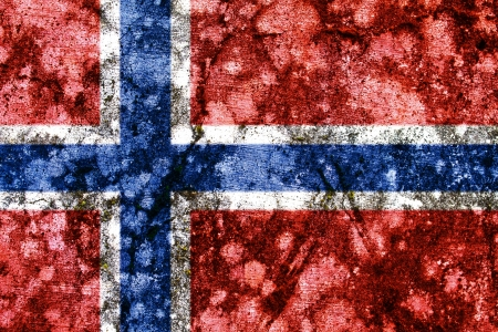 norway grunge flag photo