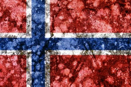 brick and mortar: norway grunge flag Stock Photo