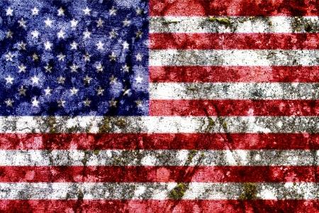 United States of America grunge flag photo