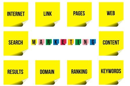 Internet marketing scheme Stock Photo - 20892383