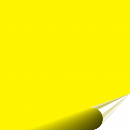 Yellow blank note with wrinkle Stock Photo - 20896958
