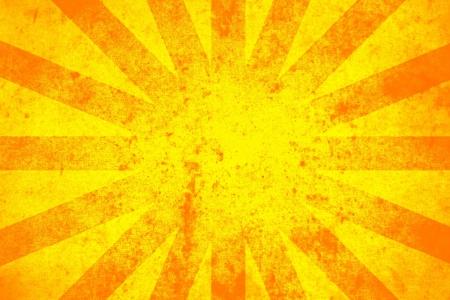 Grunge textured background in orange photo