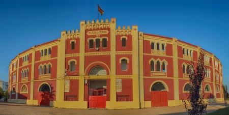 plaza de toros: Plaza de toros in M�rida located in Extremadura, Spain Editorial