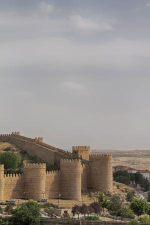 Fortification of Avila in Castile and Leon in Spain