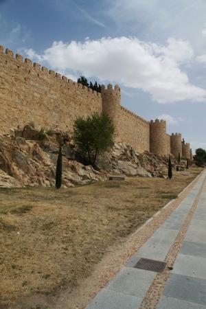 castile leon: Fortification of Avila in Castile and Leon in Spain