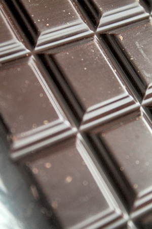Close up from a black chocolate bar photo