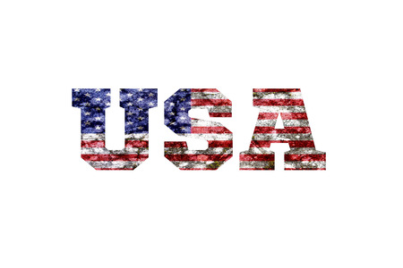 elimination: Country Name with flag inside the letters Stock Photo