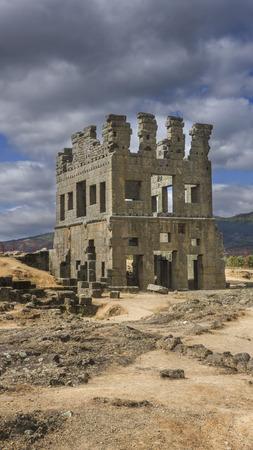 belmonte: Centum Cellas tower, a Roman ruin near Belmonte, Portugal