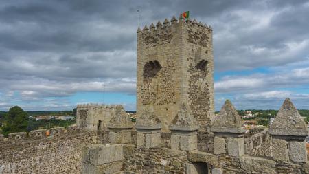 castello medievale: Portogallo, Guarda District, Beira Interior, Sabugal Castello medievale Editoriali