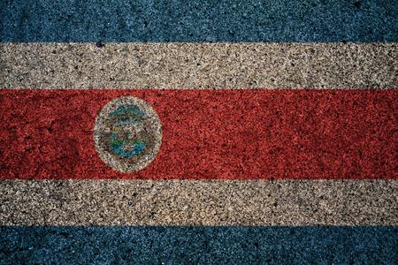 bandera de costa rica: bandera de Costa Rica con un efecto de la vendimia en el fondo
