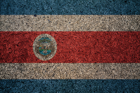costa rica flag: costa rica flag with a vintage effect in the background