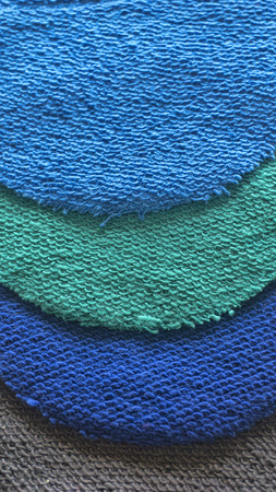 macro from textile fabric made from yarns