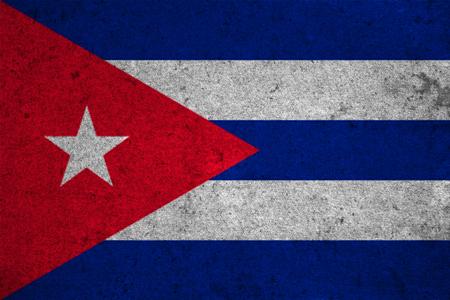 bandera cuba: cuba flag on an old grunge background