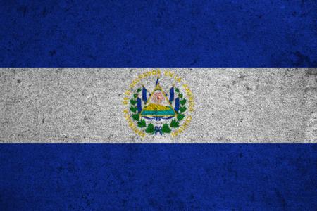 bandera de el salvador: el salvador flag on an old grunge background