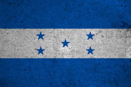 bandera honduras: honduras flag on an old grunge background Foto de archivo