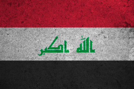 iraq flag: iraq flag on an old grunge background
