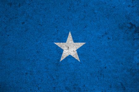 somalia flag on an old grunge background