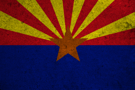 gilbert: graphic american state grunge flag of arizona