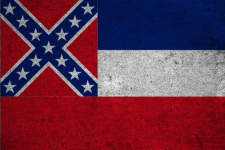graphic american state grunge flag of mississipi Banque d'images