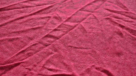 Detailed picture of jersey made from linen in pink color Foto de archivo - 117135551