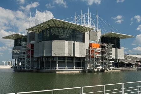 oceanarium: Oceanarium building in Lisbon