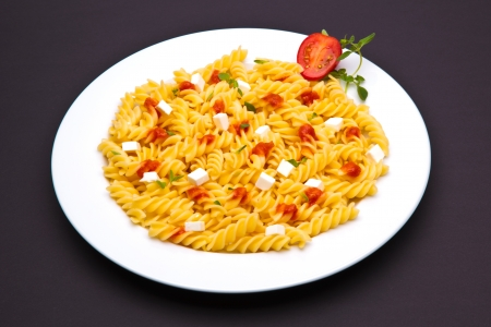 pasta dish with tomato Stock Photo - 13078385