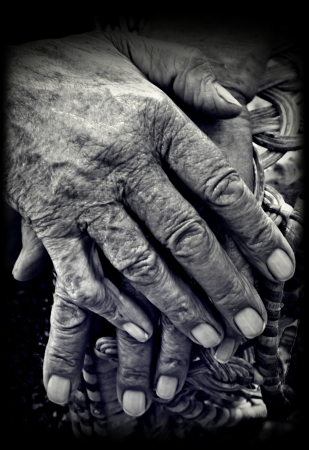 Old Hands Stock Photo