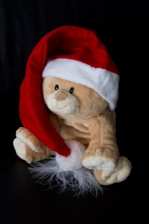 Santa Bear Stock Photo