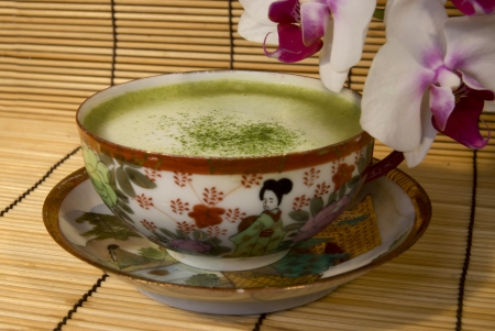 Maccha Latte Stock Photo