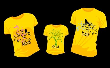 yellow T-shirt Vector