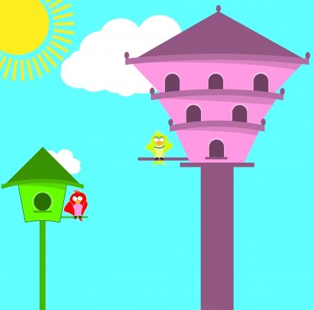 house birds Stock Vector - 15025293