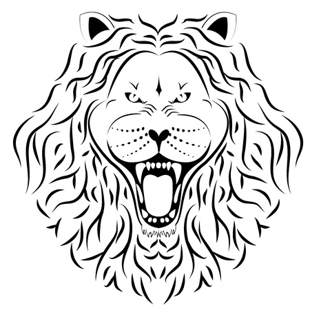 lion tattoo Illustration