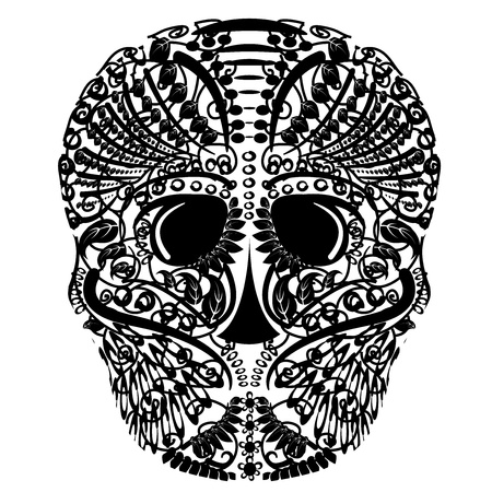 head bone of pirates tattoo Stock Vector - 15117320