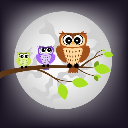 night owl Stock Vector - 15456434