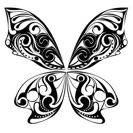 黒い蝶  イラスト・ベクター素材