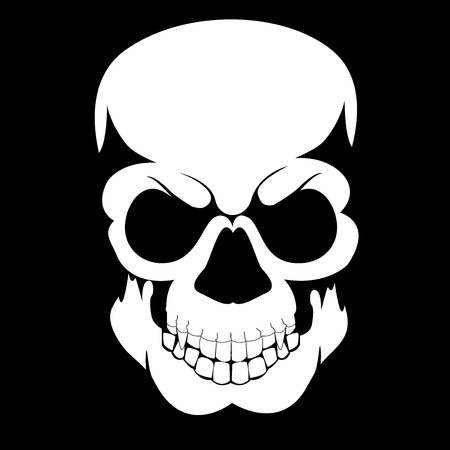 black skull Illustration