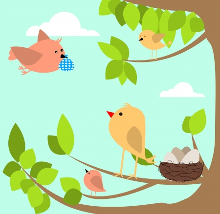 family bird Vector