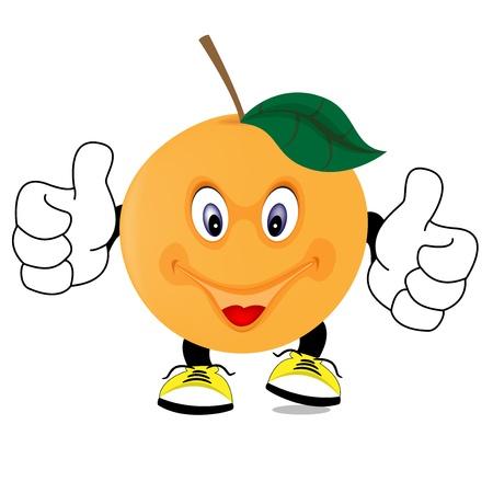 mandarin orange: orange