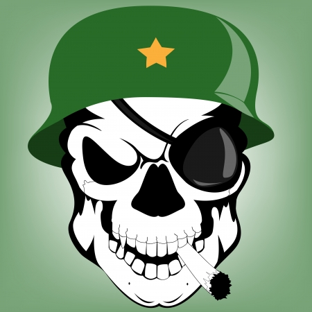 skull soldier Stock Vector - 15639851