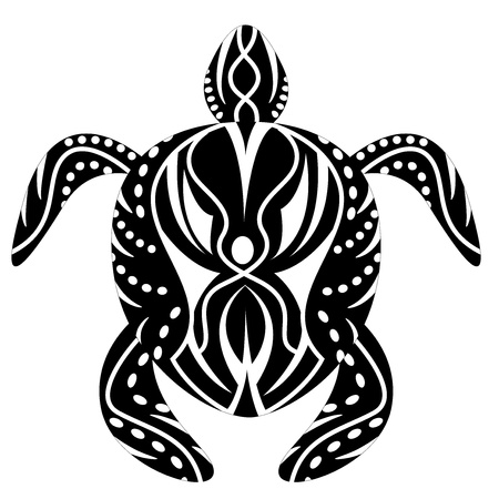 turtle tattoo Vector