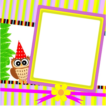 greeting cards with owl illustration Vector