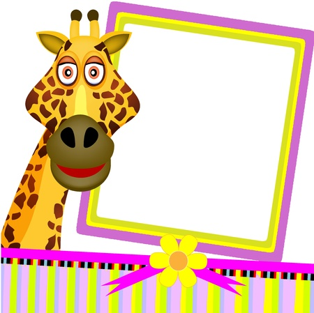 single giraffe greeting card Illustration