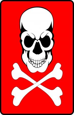warning poison Stock Vector - 16985651