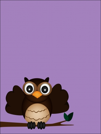 happy owl Vector