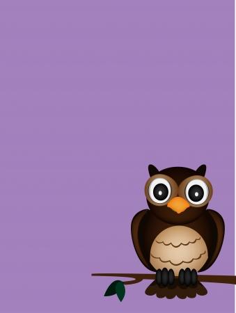 single owl Stock Vector - 17924530