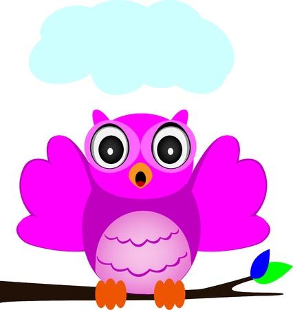 owl singing Stock Vector - 17924527
