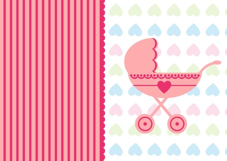 illustration baby strolle background Stock Vector - 18021377