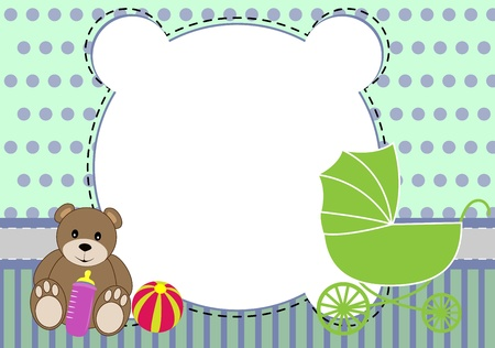 cute bear dolly element baby Vector